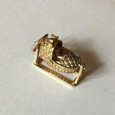 HM marcata 9k 9ct Gold Baby Ciondolo Oscillante Culla-per Bracciale