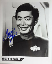Star Trek Autograph 8x10 Photo signed George Takei as Sulu-FREE S&H(LHAU-461)