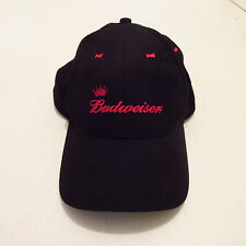 New Budweiser Beer Black Hat Bud Snapback Cap Embroidered Cotton