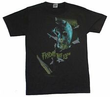 "FRIDAY THE 13th JASON TAKES MANHATTAN BLACK T-SHIRT ADULT SMALL NEW ""WATERCOLOR"""