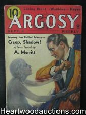 Argosy Sep 08,  1934 A.Merritt,Creep,Shadow! Cvr / Peter the Brazen StoryPeter
