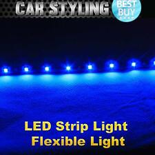 2x 30cm Fexible Strip LED Blue Daytime Driving Running Light DRL Waterproof
