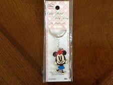 Disney Key Ring, Minnie Mouse on Painted Metal Shaped Minnie Figure