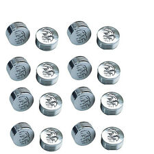 "CY-CHROME EAGLE DESIGN METAL BOLT COVERS; 3/8"" Allen Head (pack of 16)"