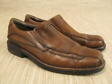 Clarks Hagen Brown Leather Casual Loafers Men's Size US 9 M Slip-On Shoes Mule