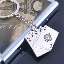 Sale Fashion Personality Ring Car Chain Keychain Metal Gift Poker