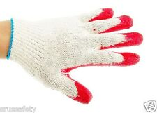 240 Pairs Red Latex Rubber Palm Coated Work Safety Gloves =Made in Korea=