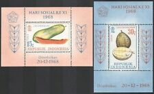 Indonesia 1968 Papaya/Pawpaw/Durian/Fruit/Plants/Nature/Food 2 x m/s (n40503)