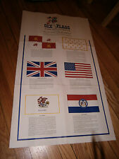 Vintage Six Flags Over Mid-America Poster St. Louis