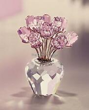 SWAROVSKI CRYSTAL A DOZEN PINK ROSES 628343 MINT BOXED RETIRED RARE