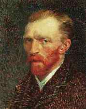 Metal Sign Van Gogh Self Portrait A4 12x8 Aluminium