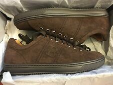 NEW BALLY ORIVEL CHOCOLATE AW11 BOVINE SUEDE SHOE MEN SIZE US 7 D, UK 6E, EUR 40
