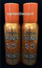 2 LARGE ORANGE CHRONIC SMOKE OUT AIR FRESHENER SPRAY   4OZ Cans ,NEW