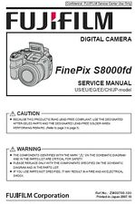 Fujifilm Finepix S8000fd Service Repair Manual