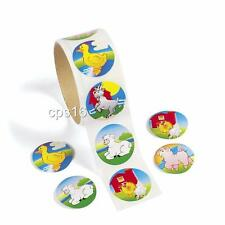 24 Farm Animal Stickers...Party Favor...Favours...Barn Party Supplies...Craft