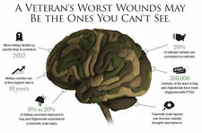 A4 Poster – Brain Trauma of Veteran Soldiers (Picture Print War Army Navy Art)