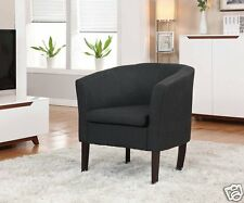 Simon Armen Linon BLACK Fabric Modern Club Chair Accent Living Room Furniture