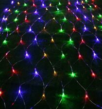 105 Solar LED Net Lights Multi Coloured Outdoor Lights Sun Powered Garden String