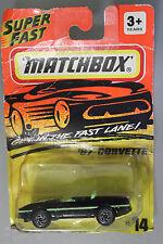 Matchbox 1:64 Scale 1995 Super Fast '87 CORVETTE (BLACK)