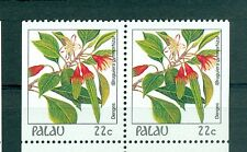 FIORI - FLOWERS PALAU 1987 Common Stamps Pair