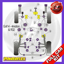 VW Golf Mk4 4WD 97-04 Powerflex Full Bush Kit Rear Arm Inner Bushes Camber Adj