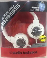 Audio Technica - ATH-WS33X - Solid Bass  Closed-back Dynamic Headphones (White)