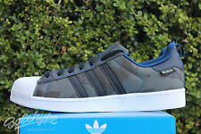 ADIDAS SUPERSTAR CAMO PRINT SZ 9 OXFORD BLUE CORE BLACK RUNNING WHITE S85978