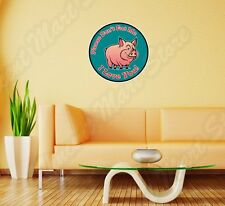 """Bacon Pig Don't Eat Me I Love You Funny Wall Sticker Room Interior Decor 22""""X22"""""""