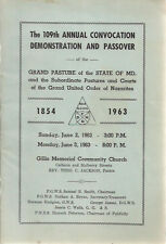 GILLIS MEMORIAL CHURCH (Baltimore MD) 1963 Convocation Demonstration & Passover