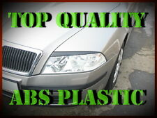 SKODA OCTAVIA 2 II HEADLIGHT BROWS EYELIDS EYEBROWS ABS PLASTIC TRIMS TUNING