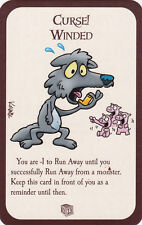 New Munchkin Promo Door Card Curse! Winded -1 to Run Away Zombie Legends Dice
