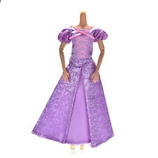 1 Pcs Purple Princess Wedding Gown Dress for Barbies Tangled Dolls HU