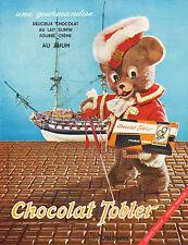 Publicité 1964  Chocolat Tobler  au lait surfin fourré crème au RHUM