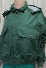 "JIGSAW GREEN WATERPROOF BAGGY BLOUSON JACKET WITH CONCEALED HOOD SIZE 2 (44-46"")"