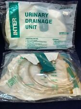 Lot Of 2 INTERMED URINARY DRAINAGE BAGS 2000ml Vented w/Reflux Valve 6210 HD