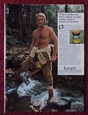 1975 Print Ad Kanon Scandinavian Cologne Fragrance ~ Rugged Outdoorsman w/ Axe