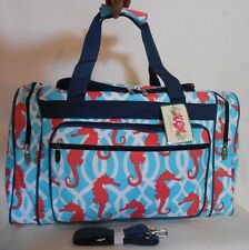 "OVERNIGHT TOTE BAG CARRY ON LUGGAGE 19"" SEA HORSE Tote Bag Tote Bag TRAVEL BAG"