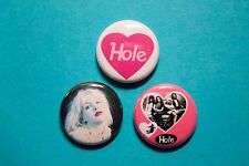 "3 1"" Hole Courtney Love Riot Girl Grunge Nirvana - pinback badges buttons"