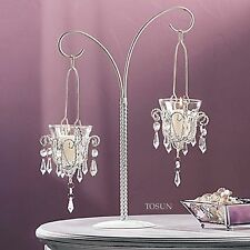 "12 White Chandelier Candle Holders 17"" Tall Candelabra Wedding Centerpieces NEW"