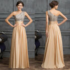 BIG PROMO bridesmaid Formal Evening Prom Ball Gowns Long Party Maxi BEAD Dresses