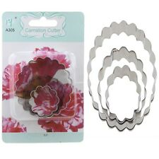 3PCS Carnation Shapes Sugarcraft Pastry Baking Cake Cookie Cutters Mold Mould