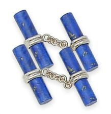 Lapis Lazuli cylinder cuff links for the most stylish man.