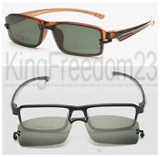 Magnetic Clip on Eyeglasses Frames Tea Eyeglass Driving Sunshades