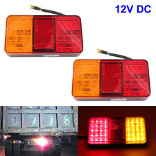 2x LED Rear Tail Lights Lamps Lorry Truck Trailer Caravan Bus Motorhome 12V