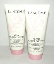 2x Lancome Creme Mousse Confort Comforting Creamy Foaming Cleanser 2 oz / 60 ml