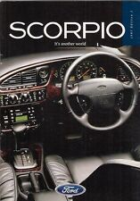 Ford Scorpio 1996-97 UK Market Sales Brochure Ultima Ghia X Ghia Saloon Estate
