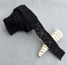 "5 Yards Elastic Lace 1"" Stretch Lace Elastic Lace Trim Elastic Headband Bridal"