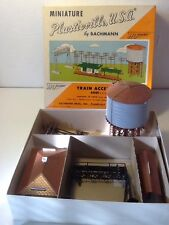 VINTAGE PLASTICVILLE USA BACHMAN HO SCALE MODEL TRAIN Water Tower Station 1950s