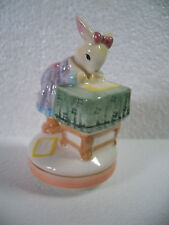 Vintage Bunny Rabbit Small Music Box ~ Plays Love Letters