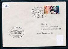85957) Bahnpost Ovalstempel, Hamburg - Frankfurt ZUG 00772 Brief 1983